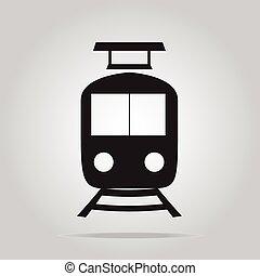símbolo, trem, ícone