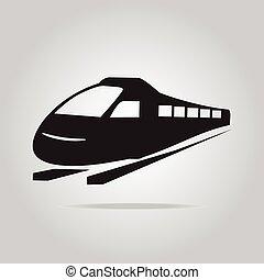 símbolo, trem, ilustração