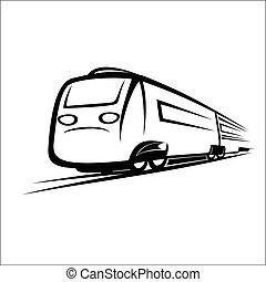 símbolo, trem