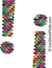 símbolo, tridimensional, colorido