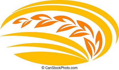 símbolo, trigo, cereal