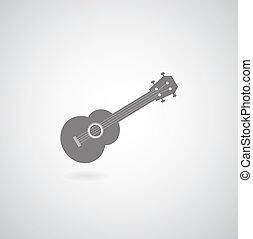 símbolo, ukulele