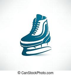 símbolo, vector, patines