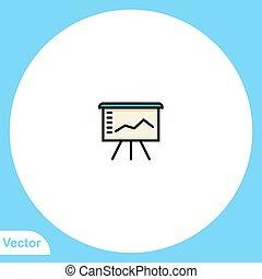 símbolo, vector, señal, presentación, icono