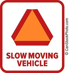 símbolo, vehículo poco movimiento