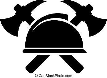 símbolo, vetorial, firefighting