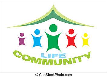 símbolo vida, comunidade