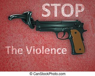 símbolo, violencia, arma de fuego, no