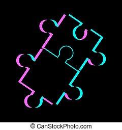 símbolo, visual, quebra-cabeça