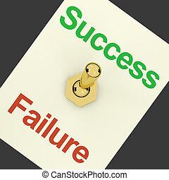 símbolo, vitória, interruptor, sucesso, ganhar