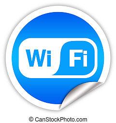 símbolo, wi - fi