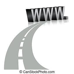 símbolo, www, internet
