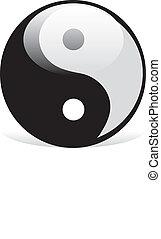 símbolo, yang de yin
