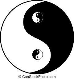 símbolo, yang de ying
