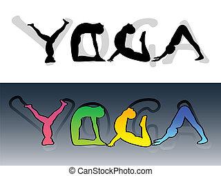 símbolo, yoga