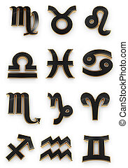 símbolo zodíaco, ícones