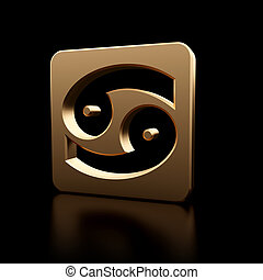 símbolo zodíaco, câncer, ícone