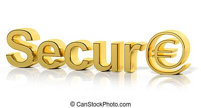 símbolomonetario, texto, aislado, dorado, en línea, 3d, ...