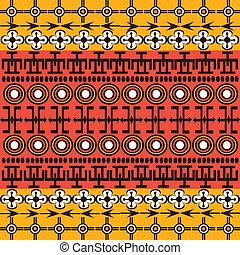 símbolos, étnico, plano de fondo, africano