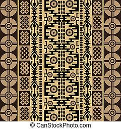símbolos, étnico, textura, tradicional, ornamentos, africano