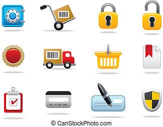 símbolos, ícones correia fotorreceptora