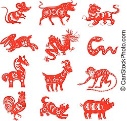 símbolos, 12, astrologia