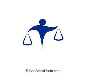 símbolos, abogado, gente, logotipo, empresa / negocio