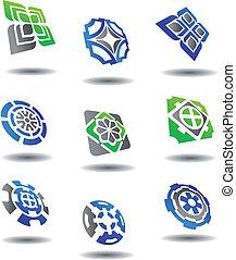 símbolos, abstratos, jogo