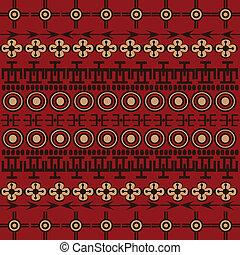símbolos, africano, fundo, ornamentos, étnico