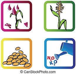 símbolos, agrícola