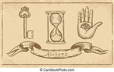 símbolos, alchemical