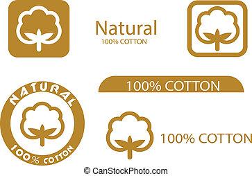 símbolos, algodón