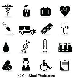 símbolos, atención sanitaria