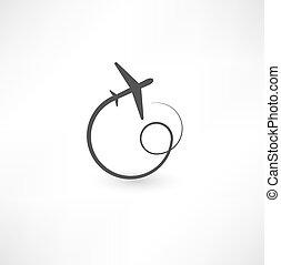 símbolos, avião