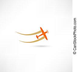 símbolos, avión