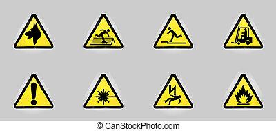 símbolos, aviso