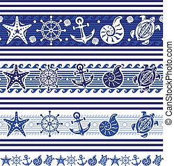 símbolos, bandeiras, mar, náutico