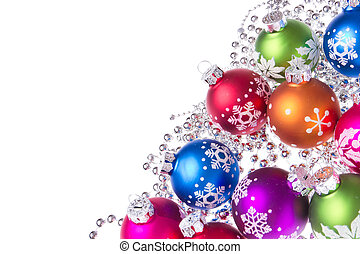 símbolos, bolas, natal, snowflake