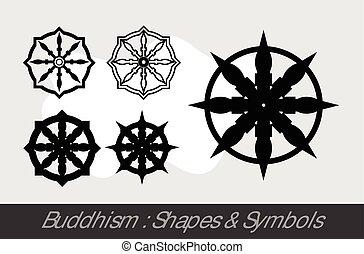 símbolos, budismo