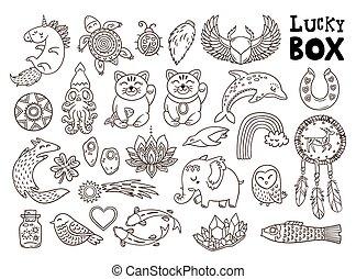 símbolos, buena suerte