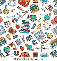 símbolos, ciência, papel parede, conhecimento