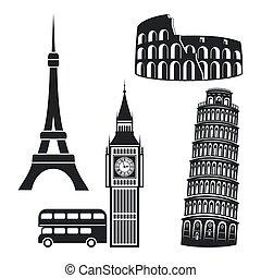 símbolos, ciudades