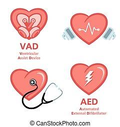 símbolos, coração, cuidado