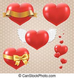símbolos, corações, jogo