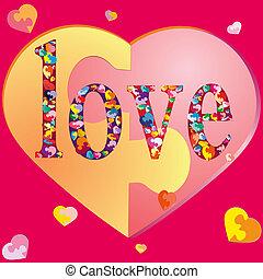 SÍMBOLOS, corações, suor, amando