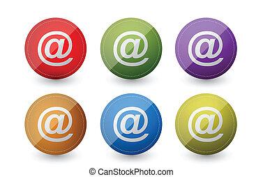 símbolos, correo, att