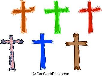 símbolos, crucifixos
