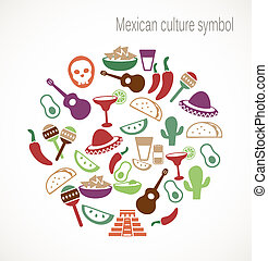 símbolos, cultura, mexicano