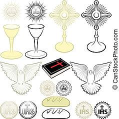 símbolos, de, cristianismo