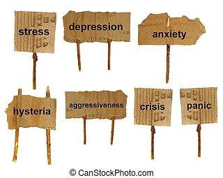 símbolos, de, mental, desordens